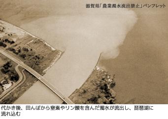 琵琶湖に流れ込む濁水
